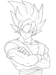 kid goku ssj4 colouring pages in dragon ball z coloring pages goku