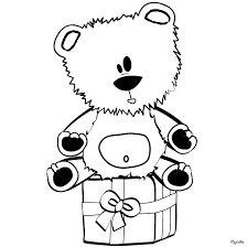 teddy bear gift box coloring pages hellokids