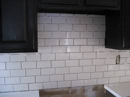 White Backsplash Kitchen Interior Classic White Subway Tile Backsplash Subway Tile