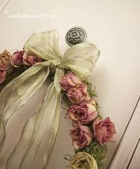 shabby chic dried rose wreath