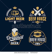 Home And Design Logo Set Vector Vintage Beer Logo Icons Stock Vector 707040418