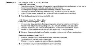 Pc Technician Resume Internship Student Resume Oil Gas Resume Writers Difference