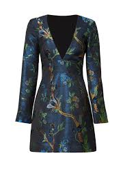 blue branches jacquard sheath by nicole miller for 75 125