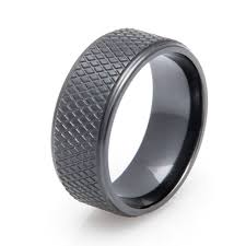 ring titanium men s black hockey puck ring titanium buzz