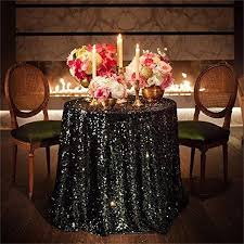 Round Kitchen Table Cloth by 48 Inch Round Black Sequin Tablecloth Wedding Beautiful Black