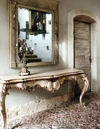 Mirror And Table For Foyer Linen And Lavender Mirror Console Table Foyer Ornate