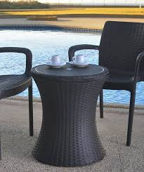 Rattan Kitchen Chairs Amazon Com Keter 7 5 Gal Cool Bar Rattan Style Outdoor Patio Pool
