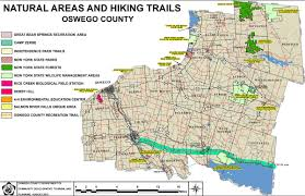 New York Pocket Map by Hiking U0026 Biking Trails Visit Oswego County