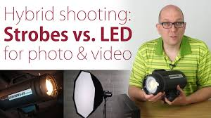 best strobe lights for photography strobes vs led what s best for hybrid photo video shooters