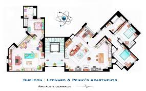 incredibly detailed floor plans of some of the most famous tv show