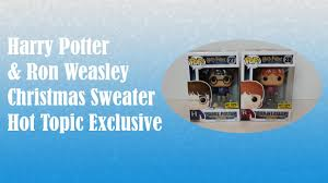 harry potter funko pop harry u0026 ron christmas sweaters exclusives