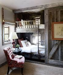 delightful rustic bedroom ideas designoursign rustic bedroom idea with wooden bunk bed feat cool nightstand lamp design and red tufted accent