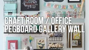 craft room office pegboard gallery wall easy diy craft supply