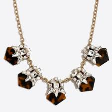 crystal necklace statement images Tortoise and crystal statement necklace factorywomen necklaces 1,0,0