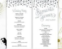 cheap wedding ceremony programs glitter programs etsy