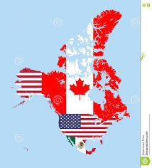 United States Vector Map by Canada United States And Mexico Vector Map Combined With Flags