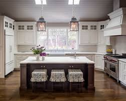 white kitchen wood island island white cabinets houzz