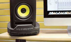 amazon com ultimate support angling desktop studio monitor stand