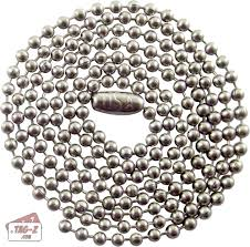 stainless ball chain necklace images Stainless steel ball chain necklaces dog tag necklaces 2 4mm jpg