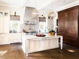 flush cabinets hood kitchen design striped roman shades stainless