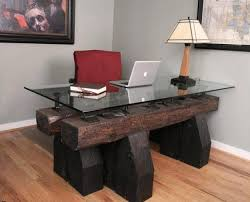 Modern Wood Office Desk Wood Office Desk At Home And Interior Design Ideas