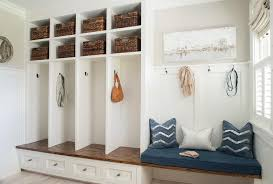 Mud Bench White Floating Mudroom Bench Design Ideas