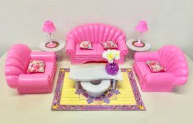 Furniture Living Room Set by Amazon Com Gloria Barbie Size Dollhouse Furniture Living Room