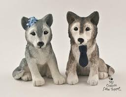 wedding cakes custom wolf wedding cake toppers 2222670 weddbook