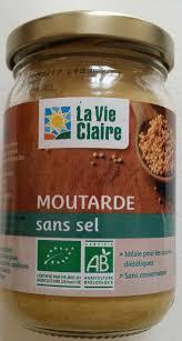 cuisine sans sel moutarde sans sel la vie 200 g