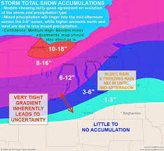 Syracuse New York Map by Weather A Foot Of Snow Mixed With Sleet Could Hit Central New