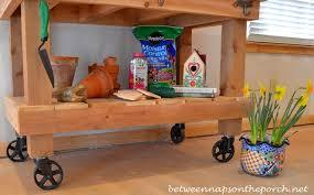 Garden Potting Bench Build A Potting Bench Or Garden Buffet Table Pottery Barn Abbott