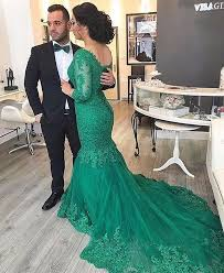 muslim engagement dresses 3 4 sleeves green mermaid prom dress on luulla