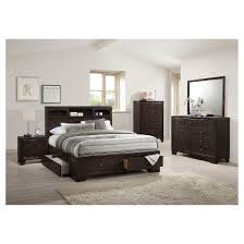Eastern King Bed Madison Ii Eastern King Bed With Storage Espresso Acme Target
