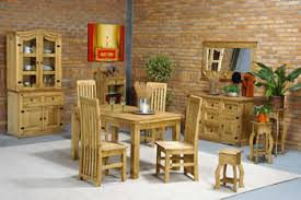 Dining Room Corona Mexican Pine Small Dining Set - Pine dining room sets