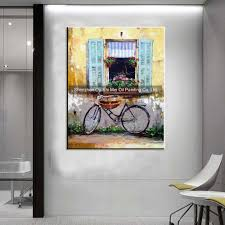 aliexpress com buy hand painted yellow wall landscapes for