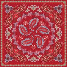 Traditional Design by Traditional Paisley Bandana Design Royalty Free Cliparts Vectors
