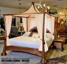 Four Post Canopy Bed Frame Fantastic Four Poster Canopy Bed With Decoration In 4 Poster Bed