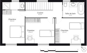 plan maison etage 3 chambres plan maison a etage chambres 18247 sprint co