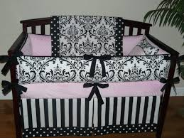 Pink And Brown Damask Crib Bedding Baby Bedding Black And White Damask Light Baby Pink