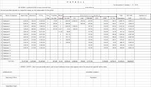 payroll sample excel template