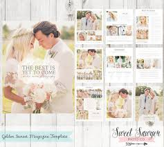 Wedding Magazine Template Instant Download Wedding Magazine Template For Photography
