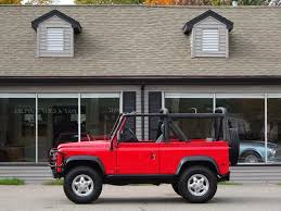 red land rover defender 1997 land rover defender 90 convertible copley motorcars