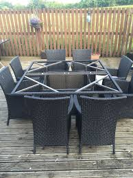 Bali Wicker Outdoor Furniture by Homebase Argos Bali 8 Seater Rattan Effect Patio Furniture Set