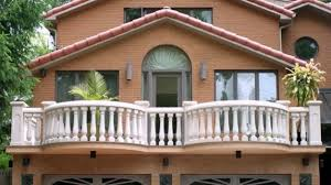 fantastic wrought iron balcony railings designs with wall brick