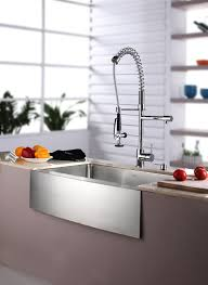 One Touch Kitchen Faucet Copper Kitchen Faucet Commercial Style Centerset Two Handle Pull