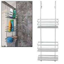 Bathroom Storage Rack 3 Tier Large Chrome Hanging Shower Caddy Bathroom Storage Rack