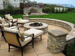 exteriors perfect patio backyard with structure stone fence and