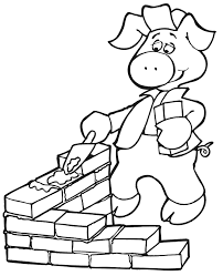 100 printable coloring pages pigs 3