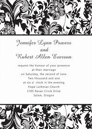 wedding invitations black and white vintage black and white damask affordable wedding invitations