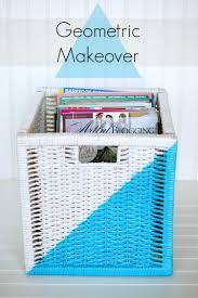 Ikea Storage Boxes Diy Ikea Storage Basket Geometric Makeover U2014 A Charming Project